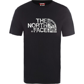 The North Face Woodcut Dome SS T-shirt Herrer, sort